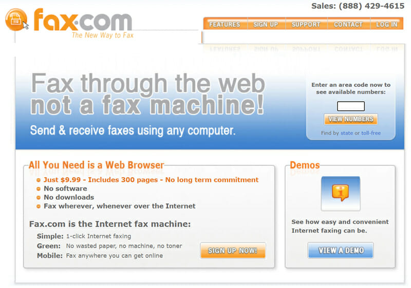 Fax.com online faxing solution