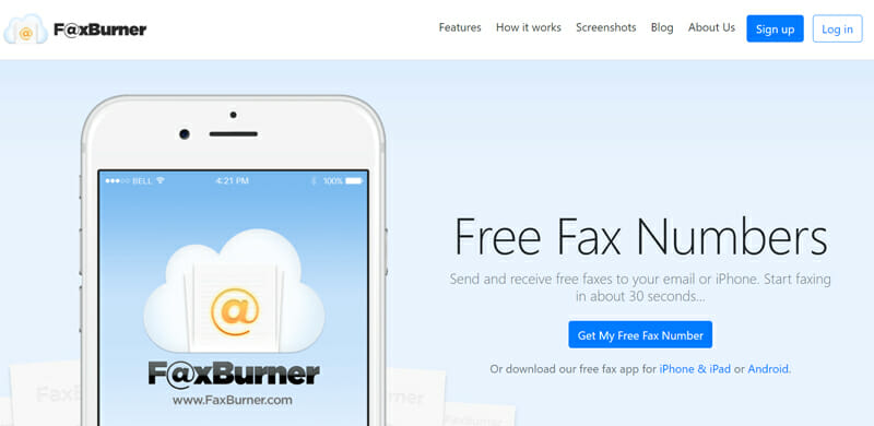 FaxBurner for those who use their mobile to send faxes