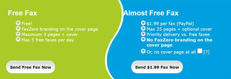 FaxZero Pricing Plan
