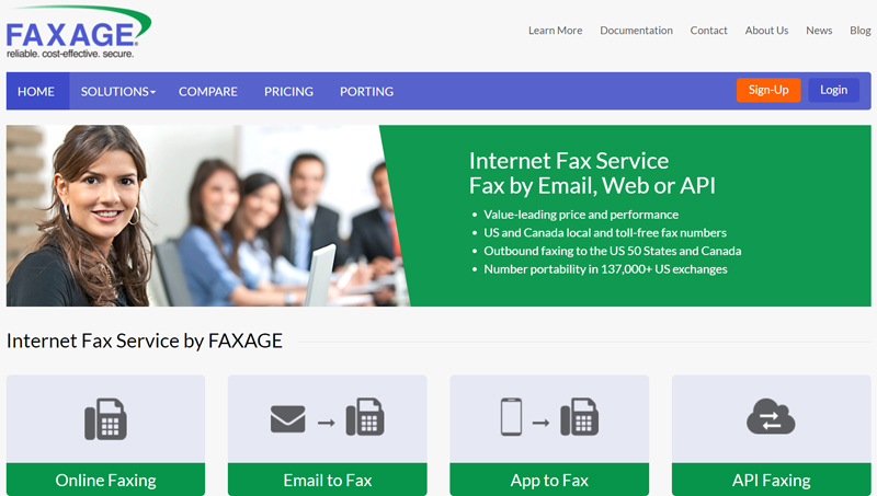Faxage for businesses of all sizes