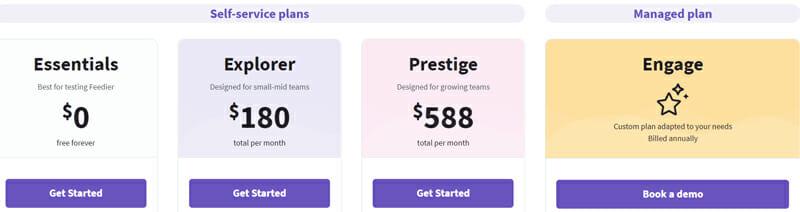 Feedier Pricing Plan