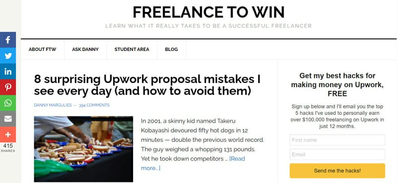 Freelance to win