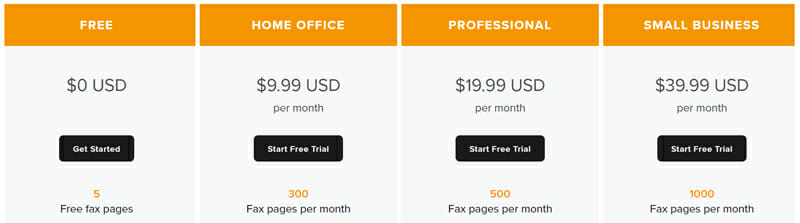 HelloFax Pricing Plan