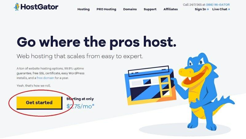 HostGator - Homepage - Get Started