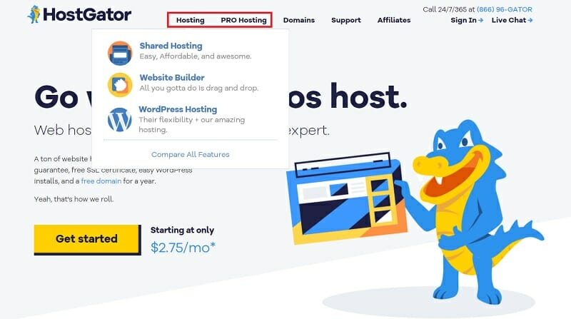 HostGator - Homepage - Hosting and PRO Hosting