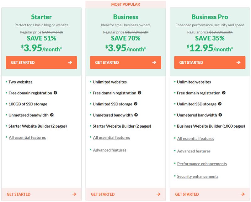 HostPapa - Web Hosting Pricing