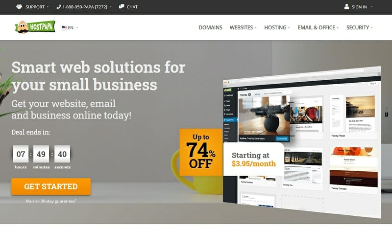 HostPapa - Leading cheap web host for small businesses that want a friendlier user-interface.