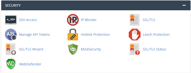 Icon WebDefender in the Security category