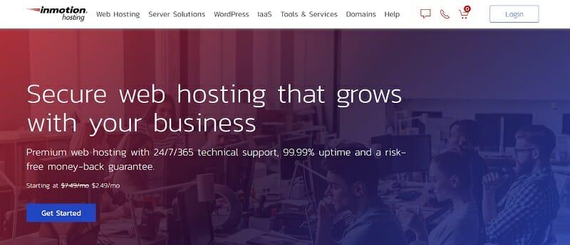 Inmotion hosting - homepage