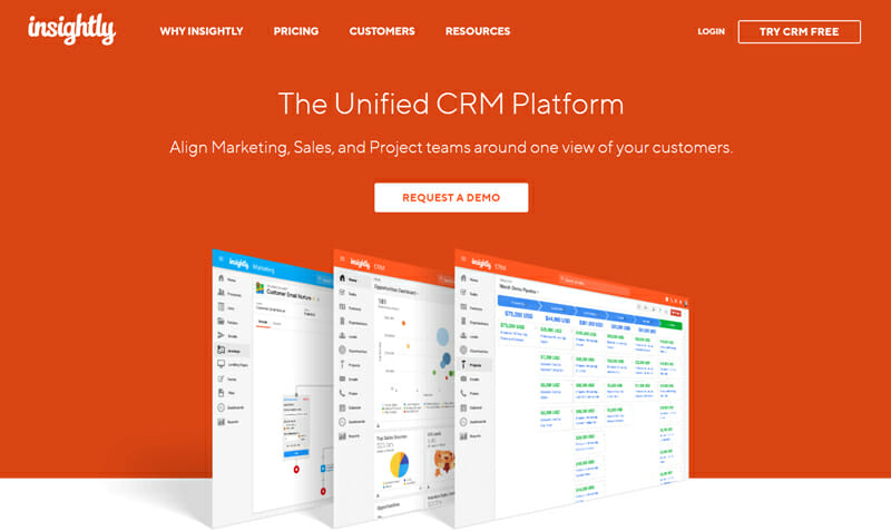 Insightly CRM focused on SaaS that is aimed at developing mid size enterprises