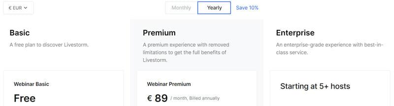 LifeStorm Pricing Plan