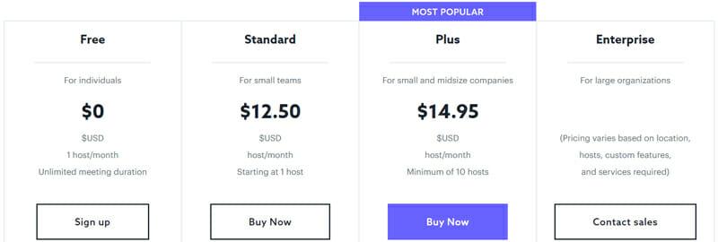 Lifesize Pricing plan