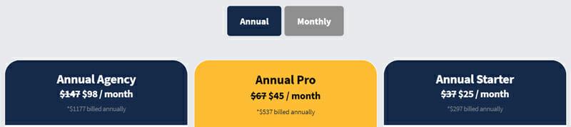 LongTailPro Pricing plan