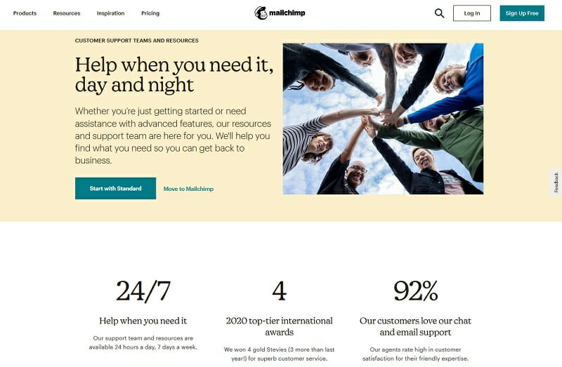 MailChimp - Help when you need it, day and night