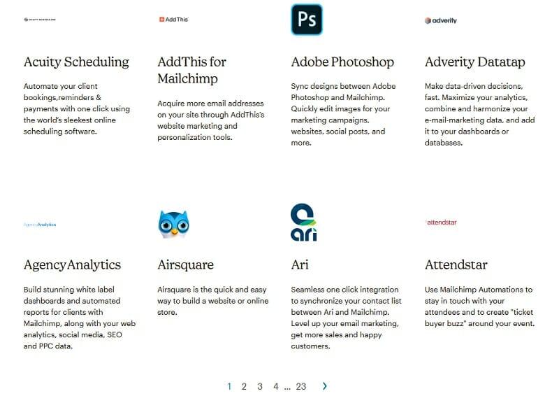 MailChimp - Integrations