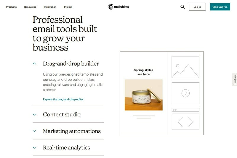 MailChimp - Professional email tools built to grow your business