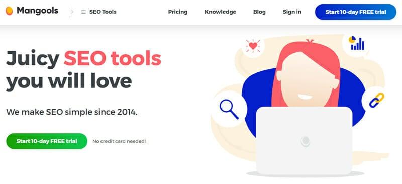 Mangools website optimization tool