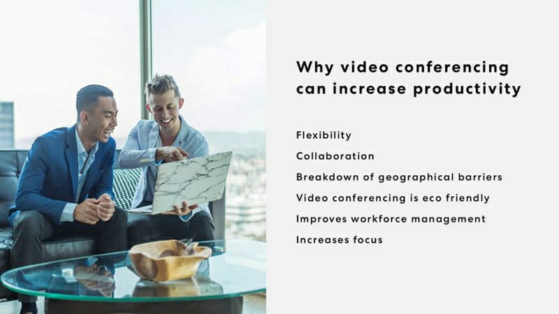 video conferencing can increase productivity
