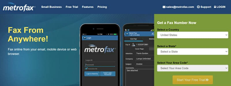 MetroFax easy to use online fax service