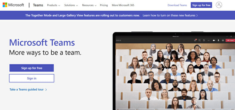 Microsoft Teams Best Collaborative Video Conferencing Software for Large Businesses