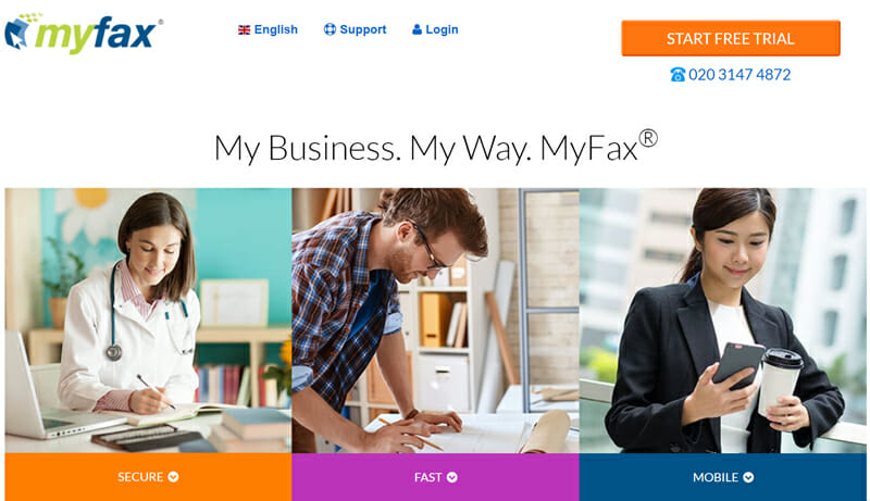 MyFax for businesses looking for a one-stop faxing solution