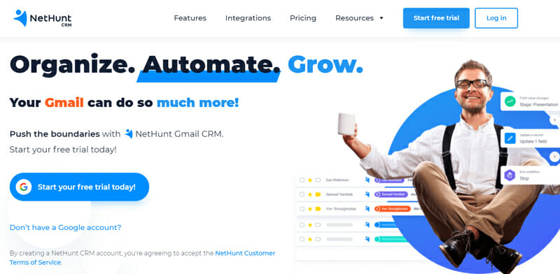 NetHunt CRM for marketing, sales and customer support teams
