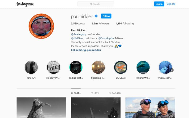 Paul Nicklen Instagram