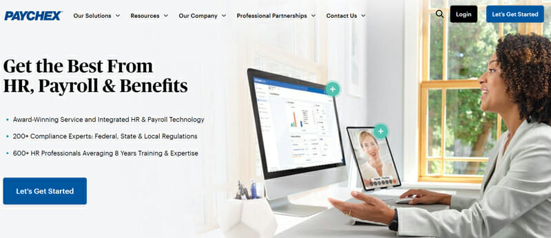 Paychex Home page