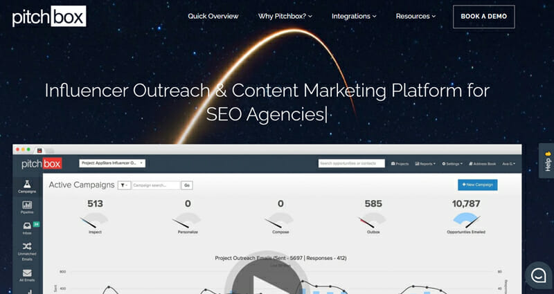 Pitchbox link building tool