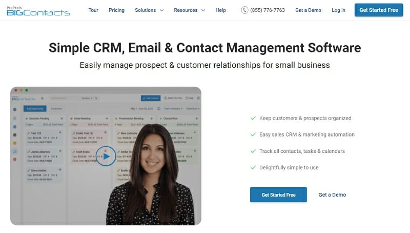ProProfs BigContacts - Simple CRM - Email & Contact Management Software