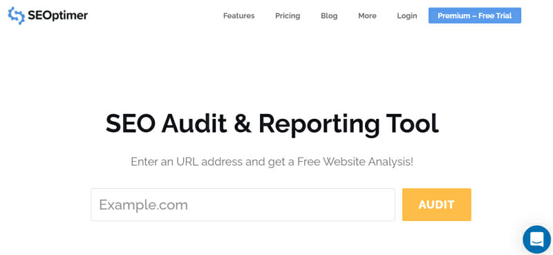 SEOptimerseo audit and reporting tool