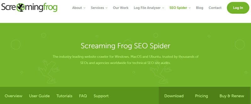 ScreamingFrog SEO Spider site audit tool