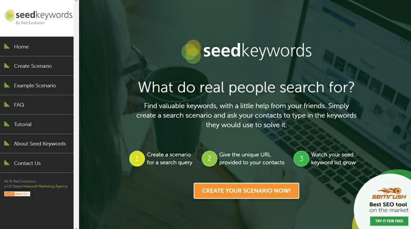 SeedKeywords keyword research software