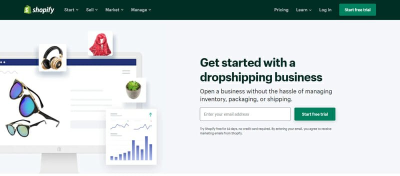 Shopify start a dropshipping business
