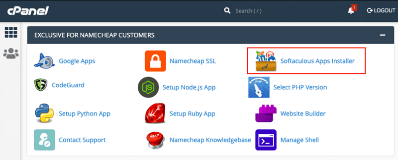 Softaculous Apps Installer in cPanel