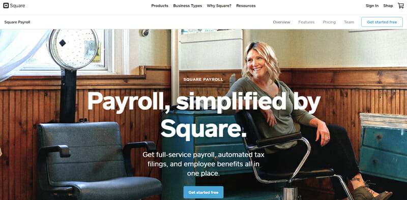 Square Payroll home page