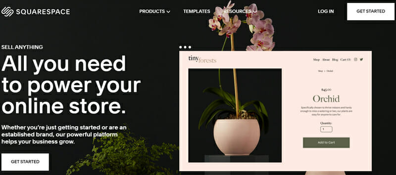 Squarespace Most Versatile Shopify Alternative with Great Visibility and Immense Functionality.