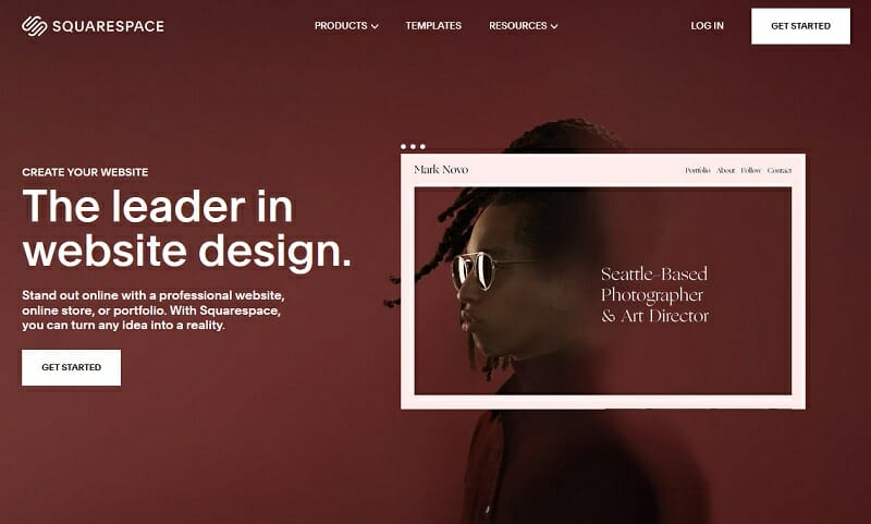 Squarespace - create your website - homepage