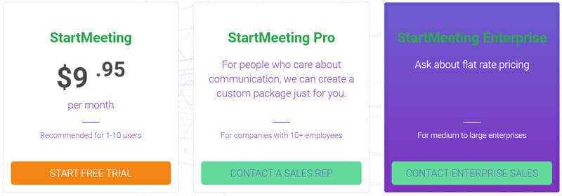 StartMeeting Pricing Plan
