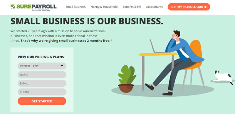 SurePayroll  is an affordable software service for small business owners