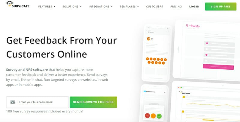 Survicate Best Online NPS Survey Software for Collecting Customers Feedback