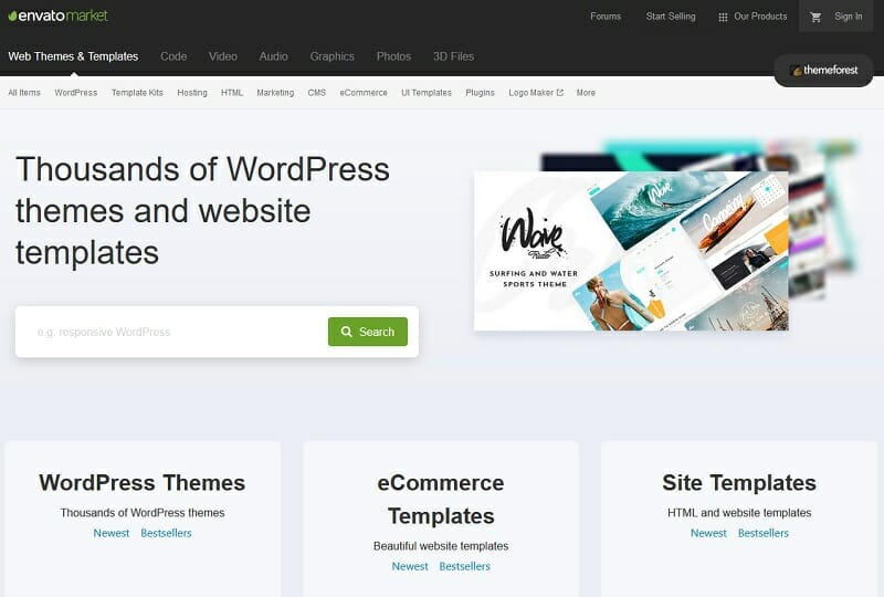 ThemeForest - wordpress themes and website templates