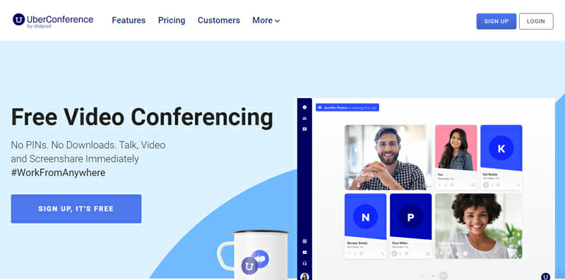 UberConference Best Video Conferencing Software for Video Conferences of 10-100 Participants