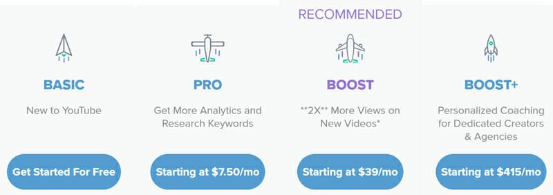 VidIQ Pricing Plan