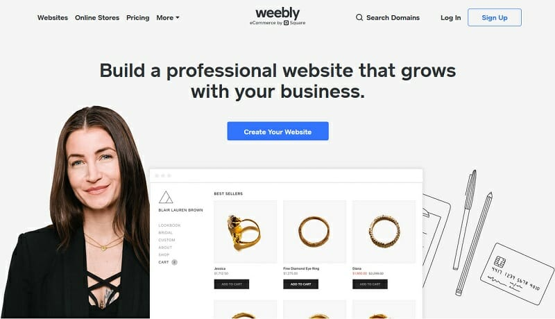 Weebly - homepage