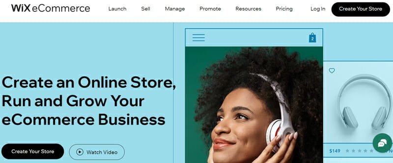 Wix Best Overall eCommerce Platform for Newbies with High-quality Design and Customization Options.