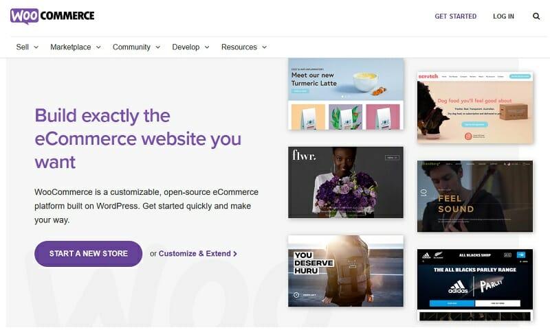 WooCommerce - homepage