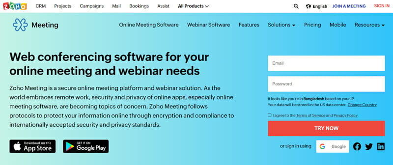 Zoho Meeting Best Web Conferencing Software for Small Businesses