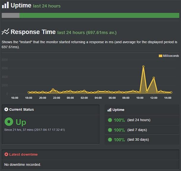 insightful uptime performance summary