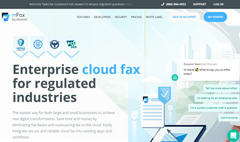 mFax for large businesses with extensive faxing needs